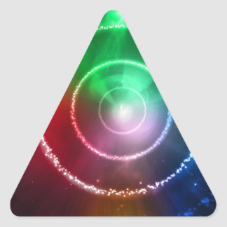 Abstract Red Green Blue Light Focus Triangle Sticker