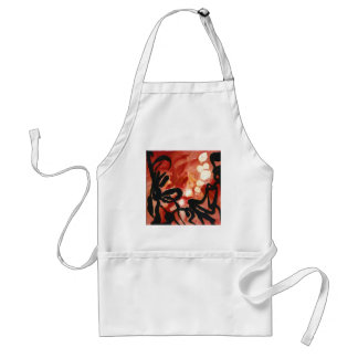 abstract Red Groovy Gear Melted dots Adult Apron