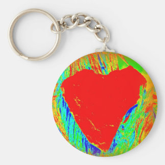 abstract red heart keychain