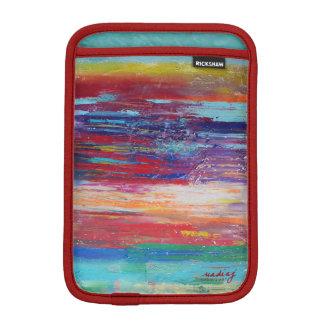 Abstract Red iPad Sleeve
