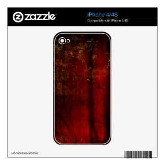 Abstract Red iPhone Skin Decals For The iPhone 4S