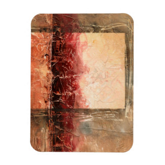 Abstract Red Landscape Magnet