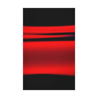 Abstract Red Light Strokes Canvas Print
