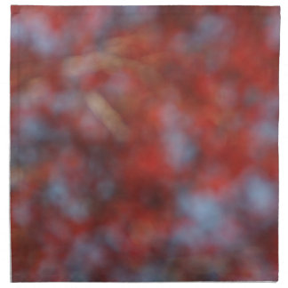 Abstract Red Maple Napkin