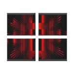 Abstract Red Metal Reaction Wrapped Canvas Canvas Prints