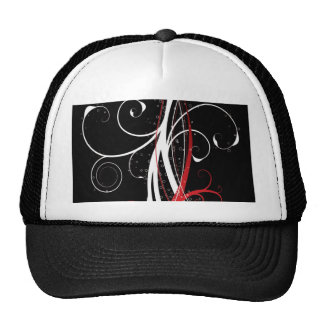 abstract red nature trucker hat