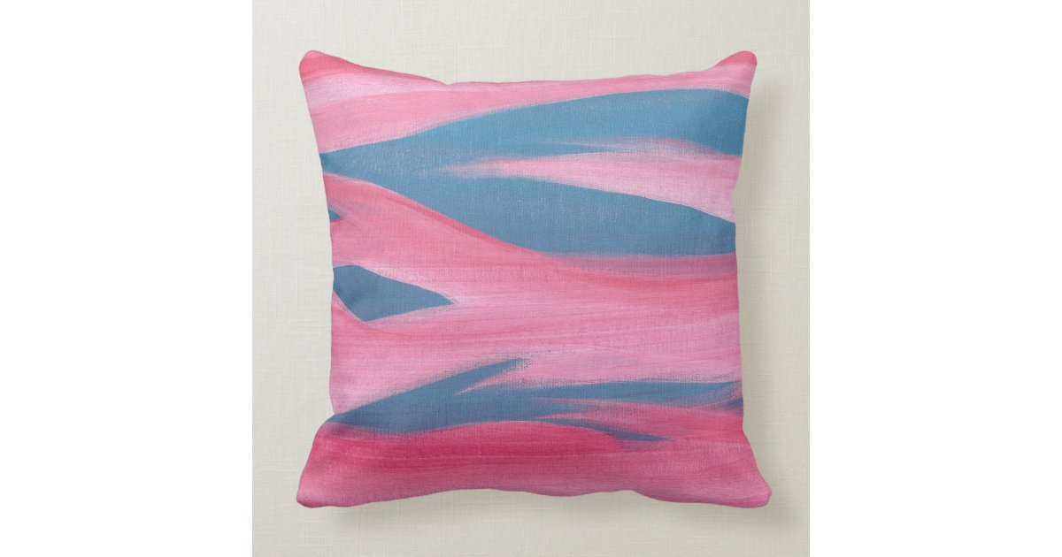 Abstract Red Night Sky Pink Blue Throw Pillows Zazzle