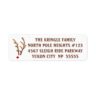 Abstract Red-Nosed Reindeer Label