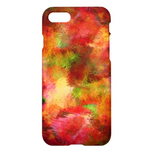 Abstract Red Oil Painting Texture Art iPhone 8/7 Case