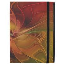 "Abstract Red Orange Brown Green Fractal Art Flower iPad Pro 12.9"" Case"