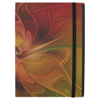 "Abstract Red Orange Brown Green Fractal Art Flower iPad Pro 12.9"" Case"