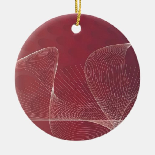 abstract red ornament