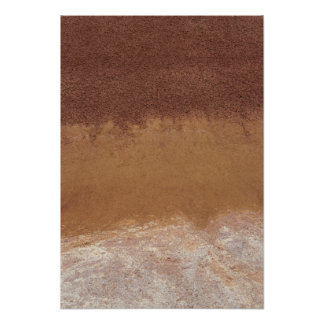 Abstract Red Painted Hills Close Up Poster