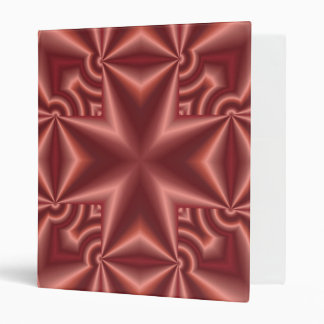 Abstract red Pattern Cross 3 Ring Binder