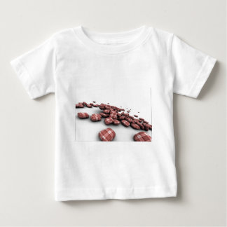 Abstract Red Pattern Design Baby T-Shirt