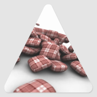 Abstract Red Pattern Design Triangle Sticker