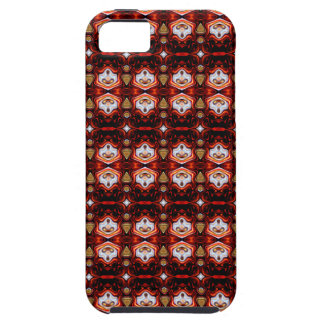 Abstract Red Pattern iPhone SE/5/5s Case