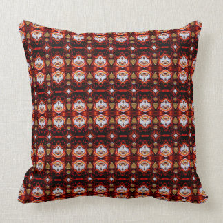 Abstract Red Pattern Pillows