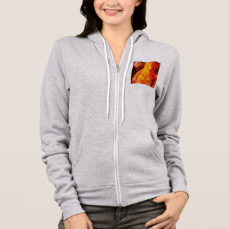 Abstract Red Pear Hoodie