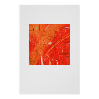 Abstract Red Poster