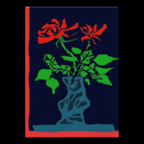 Abstract Red Roses posters
