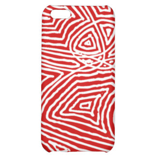 Abstract Red Scribbleprint iPhone 5C Cover