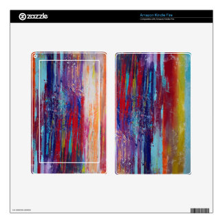 Abstract Red Skin Kindle Fire Skins