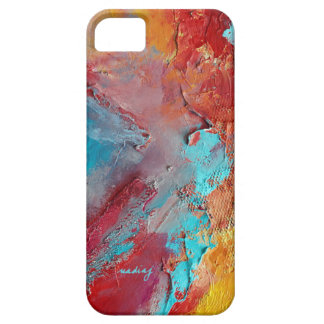 Abstract Red Textured Phone Case iPhone 5 Covers