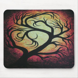 Abstract red tree mousepads