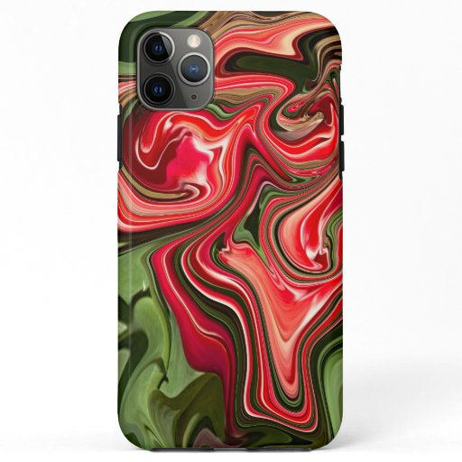 Abstract Red Tulip Floral Design iPhone 11 Pro Max Case