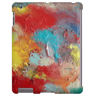 Abstract Red Turquoise Colorful Case