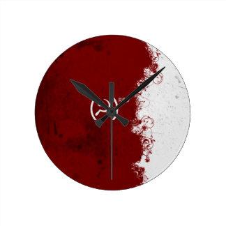 Abstract Red USSR Soviet Clock