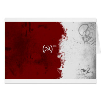 Abstract Red USSR Soviet Greeting Card