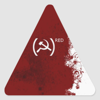 Abstract Red USSR Soviet Triangle Sticker