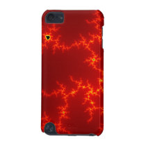 abstract red waves iPod touch (5th generation) case