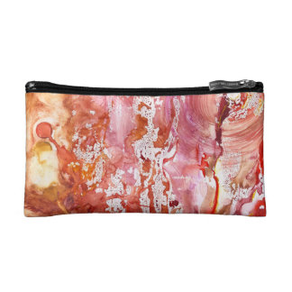 Abstract Red Whispers Bag Cosmetic Bag