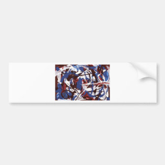 Abstract Red White and Blue jpg Bumper Stickers