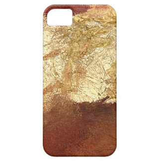 Abstract Red with Gold (Kimberly Turnbull Art) iPhone 5 Covers