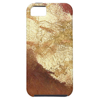 Abstract Red with Gold (Kimberly Turnbull Art) iPhone 5 Case