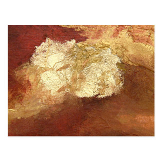 Abstract Red with Gold (Kimberly Turnbull Art) Postcard