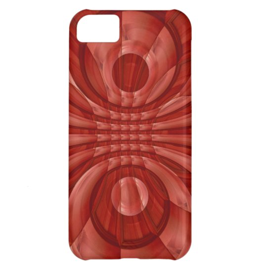 Abstract Red Wood Pattern Cover For iPhone 5C