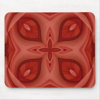 Abstract Red Wood Pattern Mouse Pad