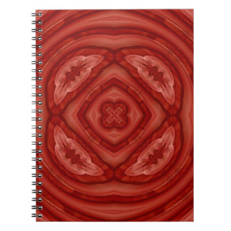Abstract Red Wood Pattern Journal