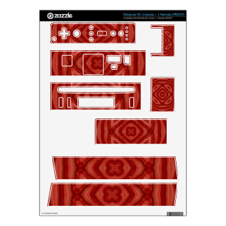 Abstract Red Wood Pattern Wii Skins