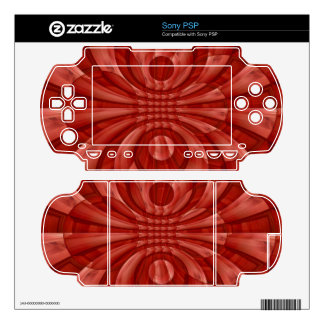 Abstract Red Wood Pattern Skin For PSP