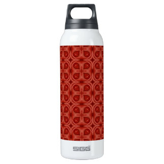 Abstract Red Wood Pattern Thermos Bottle