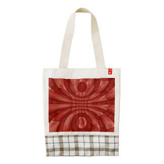 Abstract Red Wood Pattern Zazzle HEART Tote Bag