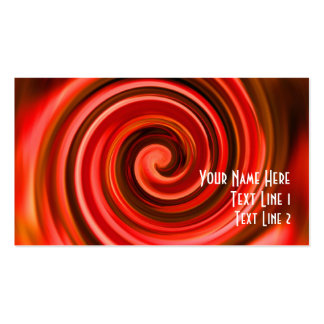 Abstract Red Yellow Swirls Business Card
