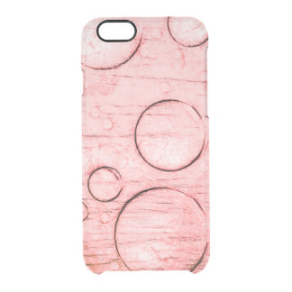 Abstract (Reddish) Clear iPhone 6/6S Case