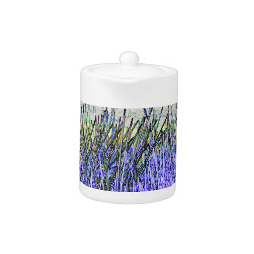 Abstract reeds In purple and white colors